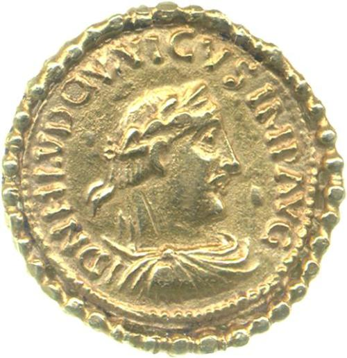 Gold solidus of Emperor Louis the Pious (814-40), Fitzwilliam Museum, PG.8162 (Grierson Collection)