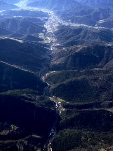 Aerial view of the Vall de Sant Joan de les Abadesses