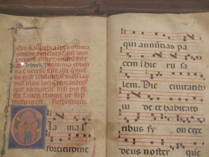 13th-century liturgical manuscript in Siena Cathedral Museum