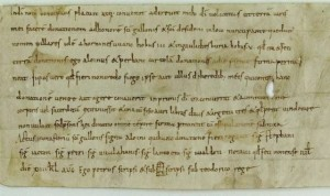 Supposedly the oldest charter in the St Gallen archive
