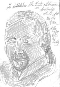 Pencil sketch of Jonathan Jarrett by 'Bobby'