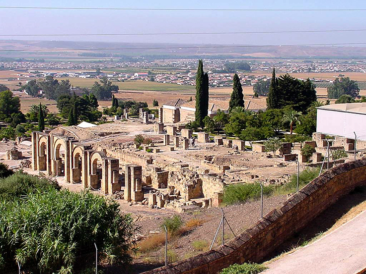 The ruins of the caliphal palace of Madinat al-Zahra' outside Córdoba