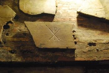 Christian graffiti from catacombs beneath San Callisto di Roma