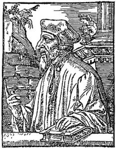 1548 woodcut of John Wyclif