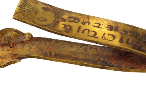The inscribed gold strip from the Staffordshire Hoard