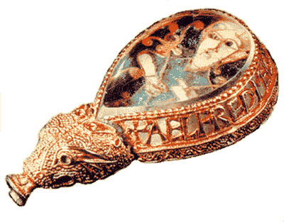 The Alfred Jewel, believed to be the topper for a wooden bookmark