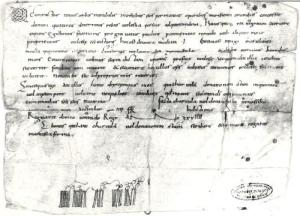 Charter from before 1121
