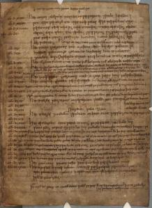 Page from the Parker ('A') manuscript of the Anglo-Saxon Chronicle, now in the Parker Library, Corpus Christi College, Cambridge