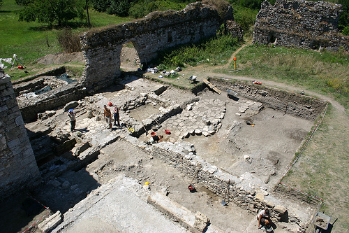 The monastery site at Villa Magna uncovered