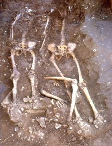 Decapitated skeletons from the Anglo-Saxon execution cemetery at Walkington Wold