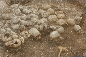The skulls from the Ridgeway burial