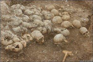 The skulls from the Ridgeway burial