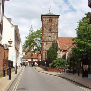 Holy Trinity Church, Colchester, built in the eleventh century from reused Roman building stone