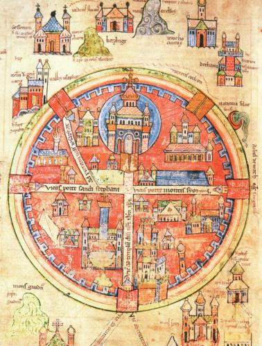 Medieval map of Jerusalem