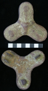 Eleventh-century bronze Viking trefoil brooch