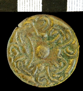 Tenth-century cast copper-alloy Borre-style brooch