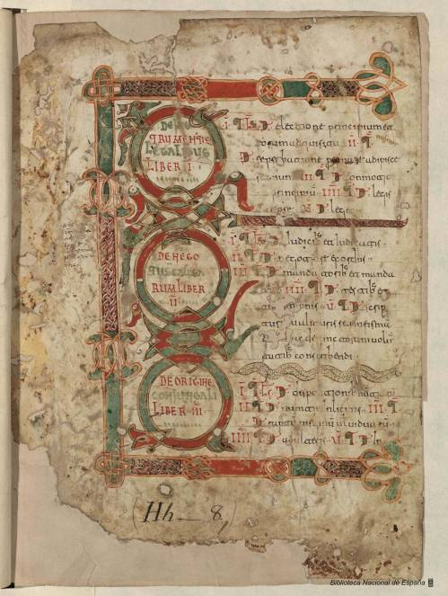 Title page of a 1058 León codex including a copy of the Liber Iudicorum