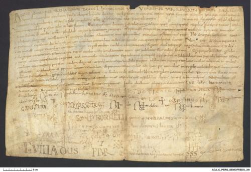 Archivo de la Corona d'Aragón, Cancilleria, Pergamins Seniofredo 39