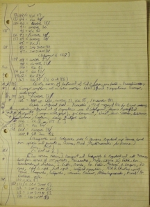 Sample of my longhand charter notes
