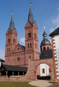 The current state of the church at Seligenstadt founded by Einhard