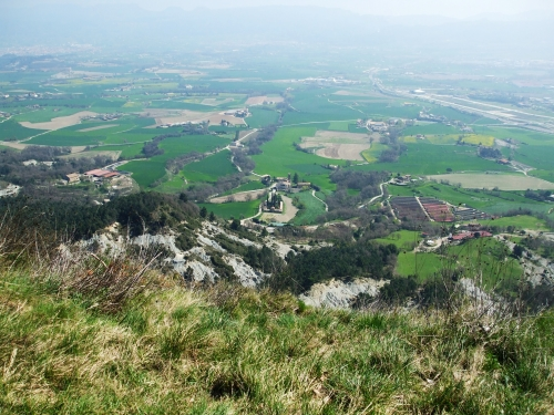 Sant Andreu de Gurb viewed from the castle hilltop