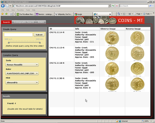 Screenshot of the COINS-MT software created by the COINS Project