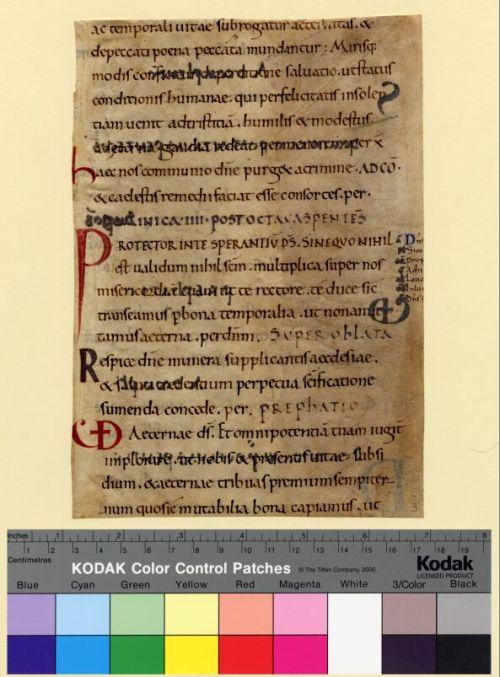 Columbia, University of Missouri, Ellis Library, Special Collections, Fragmenta Manuscripta 003, recto