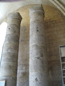 The columns from the Reculver minster, now in Canterbury Cathedral