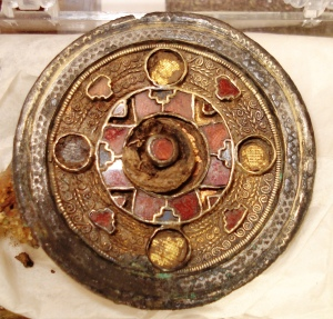 Sittingbourne Brooch on display in Sittingbourne Museum