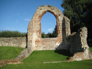 Ruins of the east end of St Pancras, Canterbury