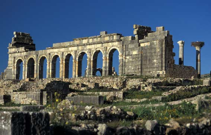 Roman ruins at Volubilis, Morocco, old Mauretania