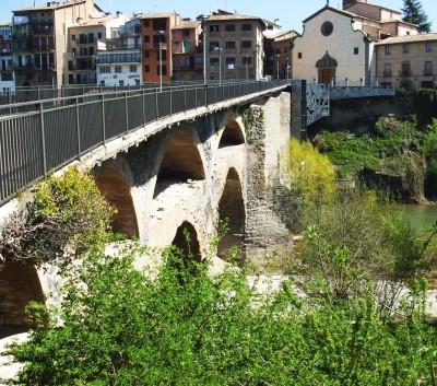 Roman and Romanesque bridge over the River Ter at Roda de Ter