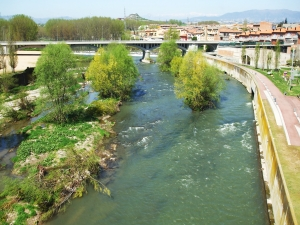 The River Ter, viewed from the Pont Romà, Roda de Ter