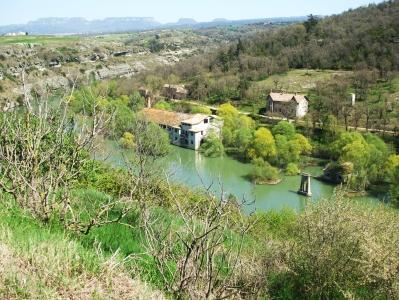 The Riu de Ter in spate, viewed from l'Esquerda
