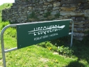 Signage at the entrance to the archaeological site of l'Esquerda