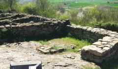 Ruins of blacksmith's house at l'Esquerda, Roda de Ter
