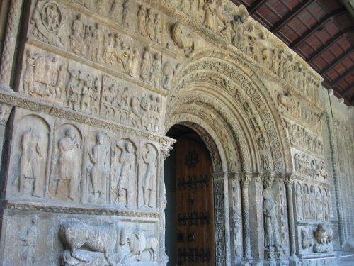 The western portal at Santa Maria de Ripoll