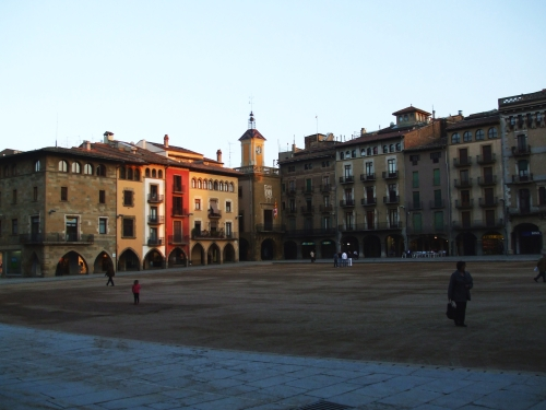 The Plaça Major, Vic, at dusk