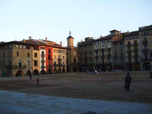 The Plaça Major, Vic, at dusk