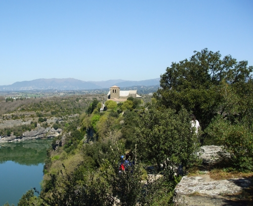 Sant Pere de Casserres viewed from the visitor centre