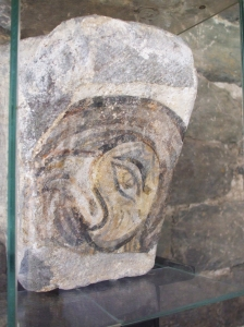 Fragmentary eagle from the frescos of Sant Pere de Casserres