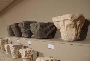 Romanesque capitals from Sant Pere de Casserres in the Museu Episcopal de Vic