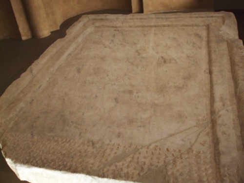 Altar stone from Sant Pere de Casserres, on display in the Museu Episcopal de Vic, MEV 4353