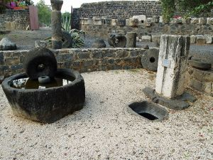 Roman-period olive press at Capernaum, Israel