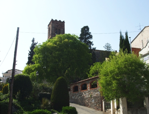 The church of Sant Pere in Vilamajor