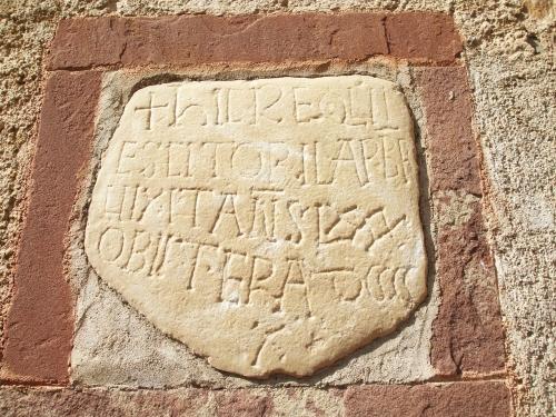 Funerary stone of the priest Orila at Sant Pere de Vilamajor