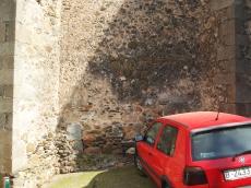 North-west corner of Sant Pere de Vilamajor
