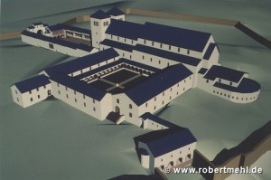Virtual reconstruction of the Abbey of Lorsch c.1150 by Robert Mehl
