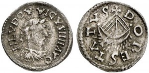 Silver denier of Emperor Louis the Pious from Dorestad