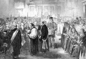 A royal Maundy ceremony in 1867